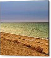 A Book On The Beach Canvas Print