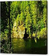 A Boulder Across The Seleway River  Canvas Print
