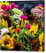 A Bouquet Of Flowers  Canvas Print