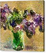 A Bouquet Of Lilac Canvas Print