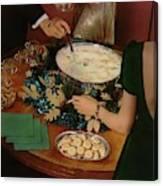 A Bowl Of Eggnog Canvas Print