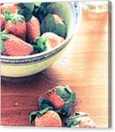 A Bowl Of Strawberries Canvas Print