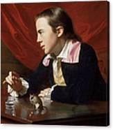 A Boy With A Flying Squirrel. Henry Pelham Canvas Print
