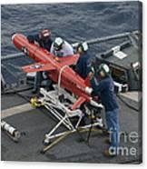 A Bqm-74e Drone Is Prepared For Launch Canvas Print