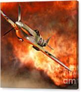 A British Supermarine Spitfire Bursting Canvas Print