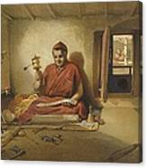 A Buddhist Monk, From India Ancient Canvas Print