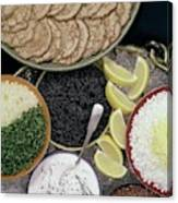 A Buffet With Blinis Canvas Print