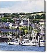 A Busy Harbour And Waterfrontkinsale Canvas Print