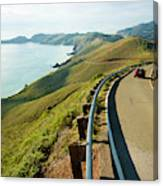 A Car Descends Conzelman Road Canvas Print