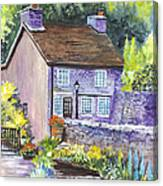 A Castleton Cottage In Uk Canvas Print