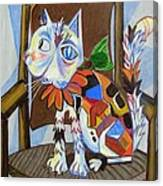 A Cat For Picasso_ Chat Et Souris Canvas Print
