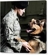 A Caucasian, Female Air Force Security Canvas Print