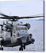 A Ch-53e Super Stallion Conducts Flight Canvas Print