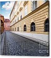 A Charming Street In Prague Canvas Print