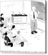 A Chemistry Teacher Addresses His Students Canvas Print