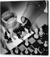 A Chess Set Canvas Print