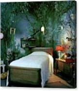A Child's Bedroom Designed By William Riva Canvas Print