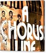 A Chorus Line Vintage Canvas Print