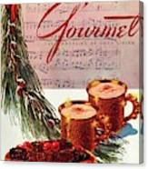 A Christmas Gourmet Cover Canvas Print