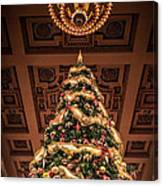 A Christmas Tree At Union Station Canvas Print