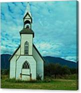 A Church In British Columbia   Canvas Print
