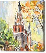 A Church In Our Street In Budapest Canvas Print