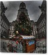 A City Hall Christmas Canvas Print