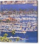 A Clear Day In San Diego Canvas Print