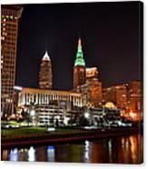 A Cleveland Night Canvas Print