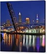 A Cleveland Ohio Evening On The River Canvas Print