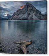 A Cloudy Day In Bow Lake Canvas Print
