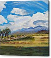 A Cloudy Day On Antelope Island Canvas Print