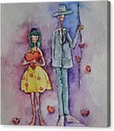 A Clumsy Love Canvas Print