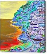 A Coastal View Of Positano Canvas Print