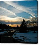 A Cold Sunset Canvas Print