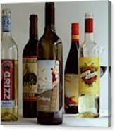 A Collection Of Wine Bottles Canvas Print