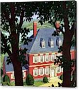 A Colonial Manor House Canvas Print
