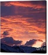 A Colorado Sunrise Canvas Print