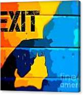A Colorful Exit  Canvas Print