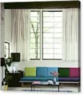 A Colourful Living Room Canvas Print