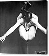 A Contortionist On A Pedestal Canvas Print