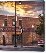 A Corner In Winslow Arizona Canvas Print