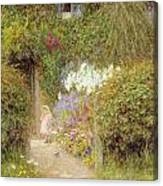 A Cottage At Redlynch Canvas Print