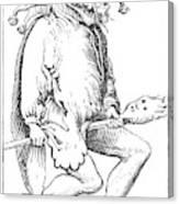 A Court Fool, 1552 Canvas Print
