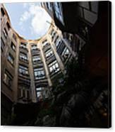 A Courtyard Curved Like A Hug - Antoni Gaudi's Casa Mila Barcelona Spain Canvas Print
