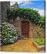 A Courtyard In Brittany France Canvas Print