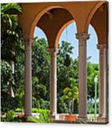 A Covered Walkway At The Biltmore Canvas Print