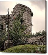 A Cross In The Ruins Canvas Print