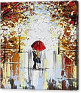 A Dance in the Rain Canvas Print