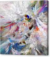 A Dance With Paint Canvas Print